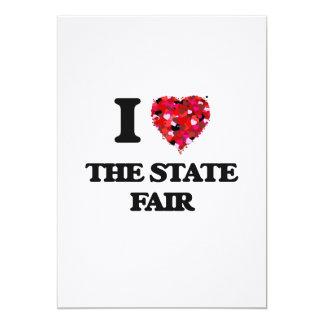 Amo la feria del estado invitación 12,7 x 17,8 cm