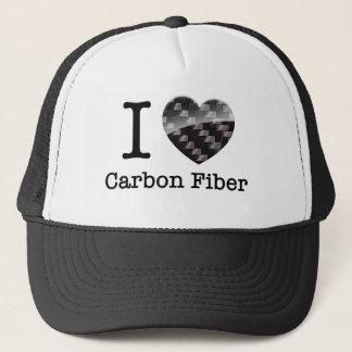 Amo la fibra de carbono gorra de camionero