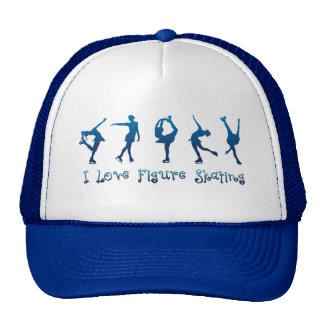 Amo la figura azul patinador gorra