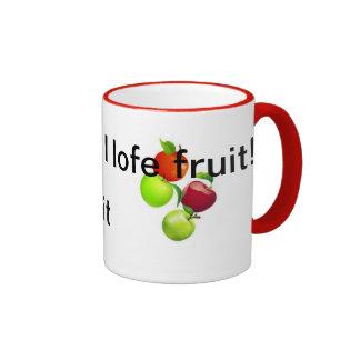 Amo la fruta taza de dos colores