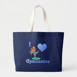 amo la gimnasia #1 bolso de tela gigante
