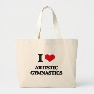 Amo la gimnasia artística bolsas de mano