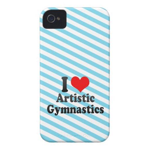 Amo la gimnasia artística Case-Mate iPhone 4 cobertura