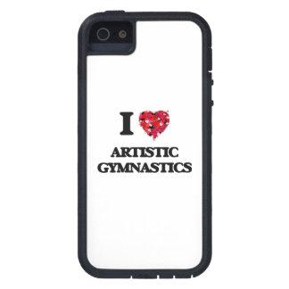 Amo la gimnasia artística iPhone 5 Case-Mate carcasa