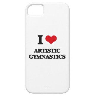Amo la gimnasia artística iPhone 5 cárcasas