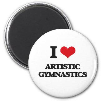 Amo la gimnasia artística imán de frigorifico