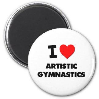 Amo la gimnasia artística imán para frigorifico