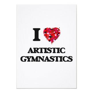 Amo la gimnasia artística invitación 12,7 x 17,8 cm