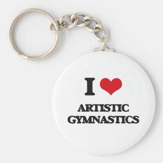 Amo la gimnasia artística llaveros personalizados
