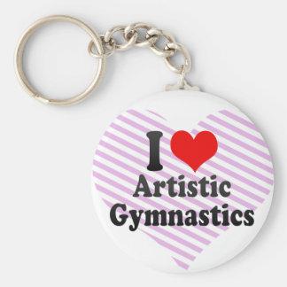 Amo la gimnasia artística llavero redondo tipo chapa