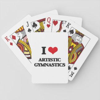 Amo la gimnasia artística cartas de juego