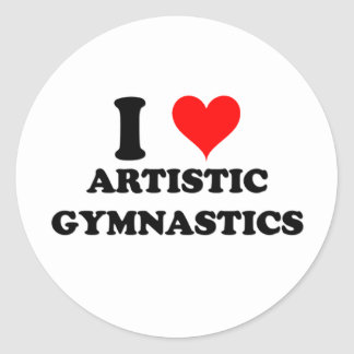 Amo la gimnasia artística etiqueta