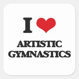 Amo la gimnasia artística colcomanias cuadradases