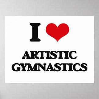 Amo la gimnasia artística posters