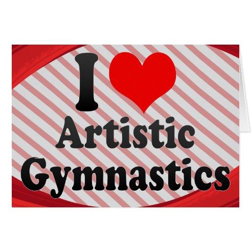 Amo la gimnasia artística felicitacion