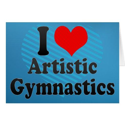 Amo la gimnasia artística tarjetas
