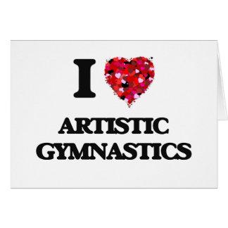 Amo la gimnasia artística tarjeta de felicitación