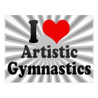 Amo la gimnasia artística tarjeta postal