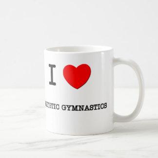 Amo la gimnasia artística tazas de café