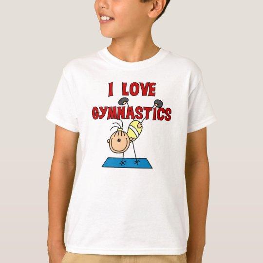 Amo la gimnasia camiseta