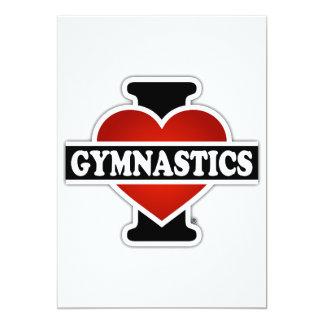 Amo la gimnasia invitación 12,7 x 17,8 cm