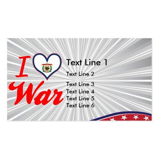 Amo la guerra, Virginia Occidental Tarjeta De Negocio