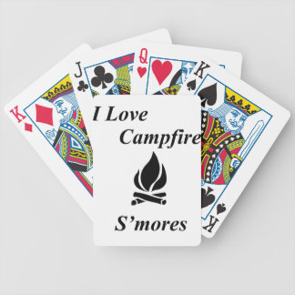 Amo la hoguera S'mores Baraja De Cartas Bicycle