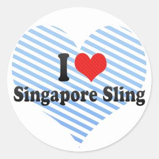 Amo la honda de Singapur Pegatinas