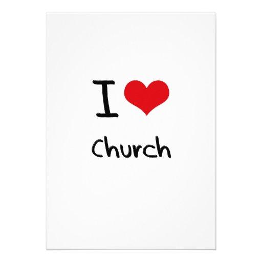 Amo la iglesia invitación personalizada