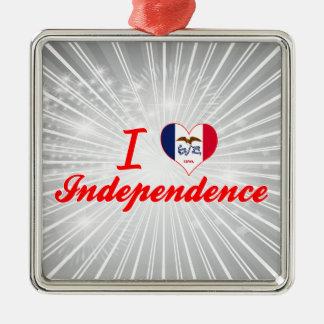Amo la independencia Iowa Ornamento Para Reyes Magos