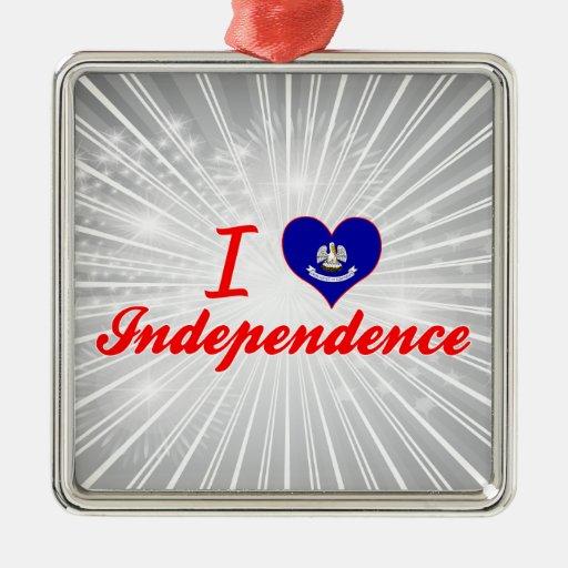 Amo la independencia, Luisiana Ornaments Para Arbol De Navidad