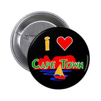 Amo la insignia del botón de la montaña de la