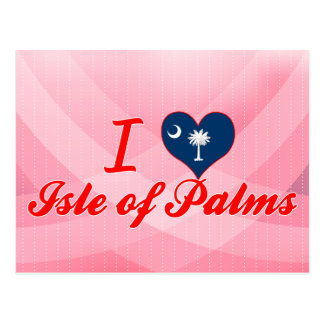 Amo la isla de palmas, Carolina del Sur Postal