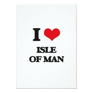 Amo la isla del hombre invitación 12,7 x 17,8 cm