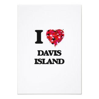 Amo la isla la Florida de Davis Invitación 12,7 X 17,8 Cm