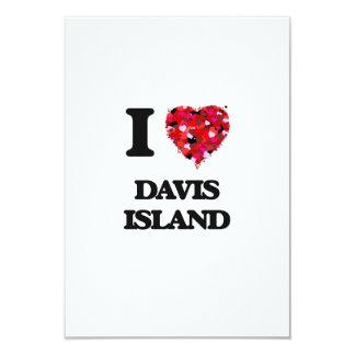 Amo la isla la Florida de Davis Invitación 8,9 X 12,7 Cm