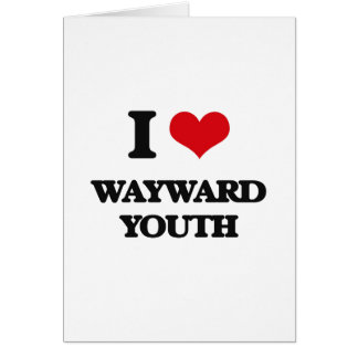 Amo la juventud díscola tarjeta de felicitación