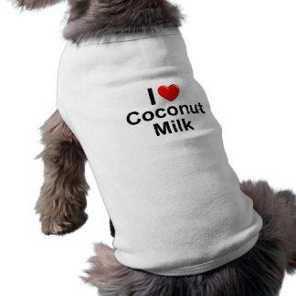 Amo la leche de coco del corazón