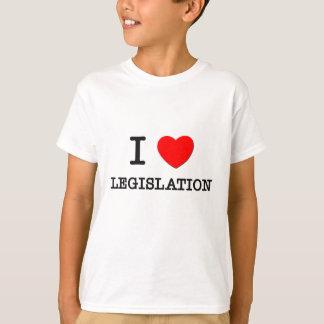 Amo la legislación camiseta
