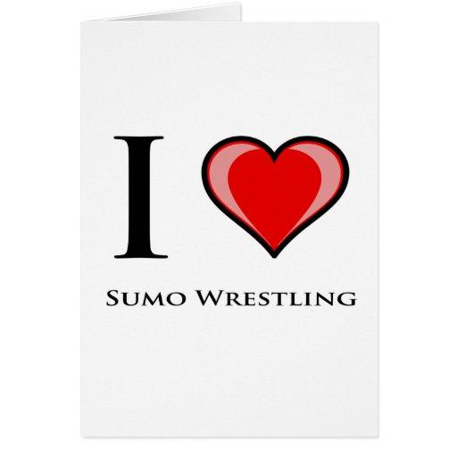 Amo la lucha de sumo tarjeta