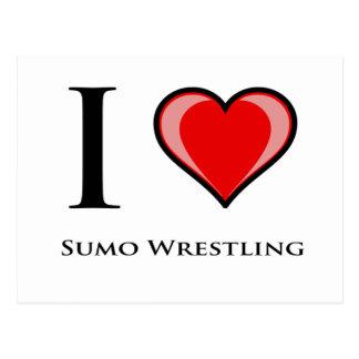 Amo la lucha de sumo tarjetas postales