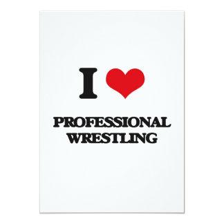 Amo la lucha profesional invitación 12,7 x 17,8 cm