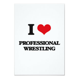 Amo la lucha profesional invitación 8,9 x 12,7 cm