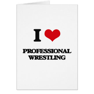 Amo la lucha profesional tarjeton