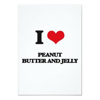 Amo la mantequilla y la jalea de cacahuete invitación 8,9 x 12,7 cm