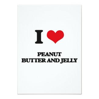 Amo la mantequilla y la jalea de cacahuete invitación 12,7 x 17,8 cm