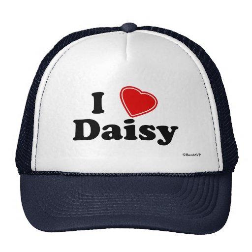 Amo la margarita gorras