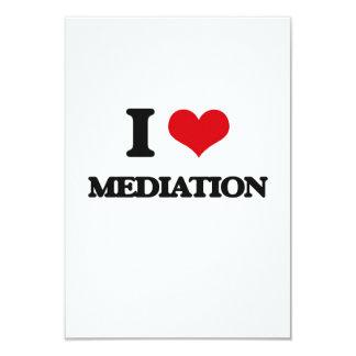 Amo la mediación invitación 8,9 x 12,7 cm
