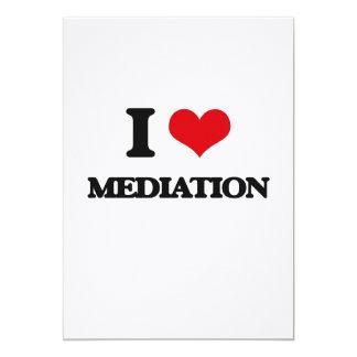 Amo la mediación invitación 12,7 x 17,8 cm