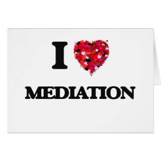 Amo la mediación tarjeta de felicitación